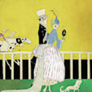 Couple At The Races, 1916 Poster
