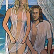 Couple In Beachhouse Poster