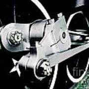 Coupling Rods And Driver Wheels For A Steam Locomotive Poster