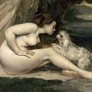 Courbet Nude Poster