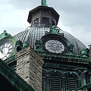 Courthouse Dome In Binghamton Ny Poster