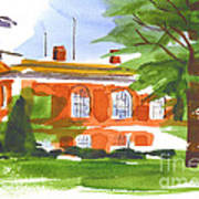 Courthouse On A Summers Evening Poster by Kip DeVore