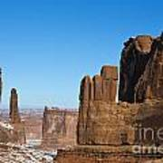 Courthouse Towers Arches National Park Utah Poster