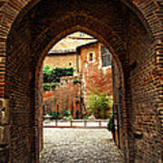 Courtyard Of Cathedral Of Ste-cecile In Albi France Poster