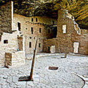 Courtyard Of Spruce Tree House On Chapin Mesa In Mesa Verde National Park-colorado  Poster