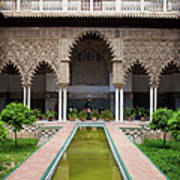 Courtyard Of The Maidens In Alcazar Palace Of Seville Poster
