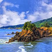 Cove On The Oregon Coast Poster