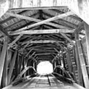 Covered Bridge Architecture Poster