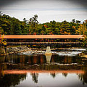 Covered Bridge Conway New Hampshire Poster