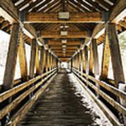 Covered Bridge Littleton New Hampshire Poster