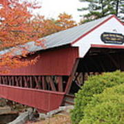 Covered Bridge N Conway Poster