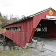 Covered Bridge Taftsville Poster