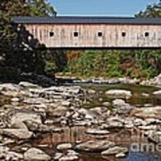 Covered Bridge Vermont Poster by Edward Fielding