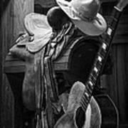 Cowboy Acoustic Guitar Poster