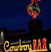 Cowboy Bar Poster