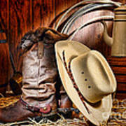 Cowboy Gear Poster by Olivier Le Queinec