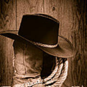 Cowboy Hat And Boots Poster