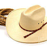 Cowboy Hat And Rope Poster