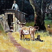 Cowboy On The Outhouse  Poster