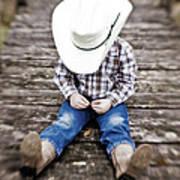 Cowboy Poster by Scott Pellegrin
