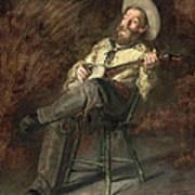 Cowboy Singing Poster