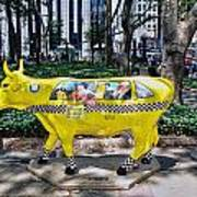 Cow Parade N Y C 2000 - Taxi Cow Poster
