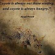 Coyote Proverb Poster