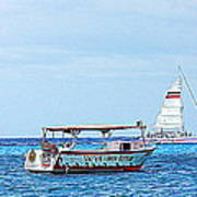 Cozumel Excursion Boats Poster