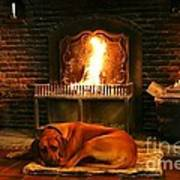 Cozy By The Fire Poster
