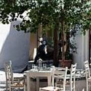 Cozy Greek Taverna Poster