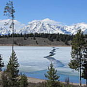 Cracked Ice On Jackson Lake Grand Teton Np Wyoming Poster