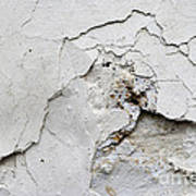 Cracked Stucco - Grunge Background Poster