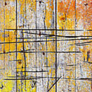 Cracked Wood Background Poster by Carlos Caetano