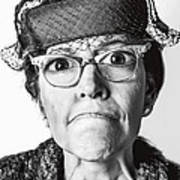 Cranky Old Lady Poster