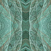 Crashing Waves Of Green 1 - Panorama - Abstract - Fractal Art Poster
