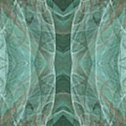 Crashing Waves Of Green 4 - Square - Abstract - Fractal Art Poster