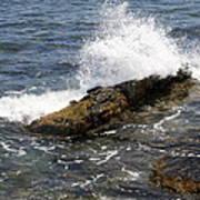 Crashing Waves - Rhode Island Poster