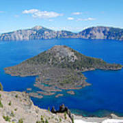 Crater Lake Wizard Island Poster