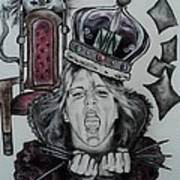 Crazy Carla Queen Of Charcoal Land Poster