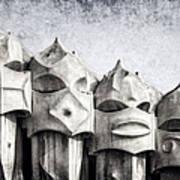 Creatures Of La Pedrera Bw Poster