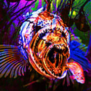 Creatures Of The Deep - Fear No Fish 5d24799 Poster by Wingsdomain Art and Photography
