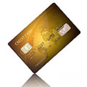 Credit Card Poster by Johan Swanepoel