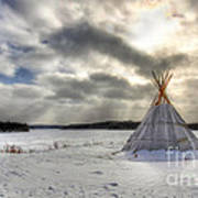 Cree Tepee Poster