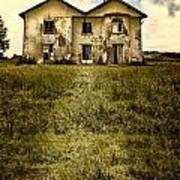Creepy Derelict House Poster