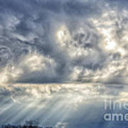 Crepuscular Rays Poster