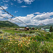 Crested Butte Farm House Poster