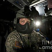 Crew Chief In A Uh-60 Black Hawk Poster