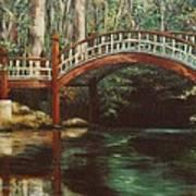 Crim Dell Bridge - College Of William And Mary Poster