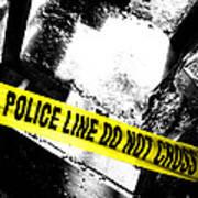 Crime Scene Poster by Olivier Le Queinec