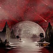 Crimson Night Poster by Anthony Citro